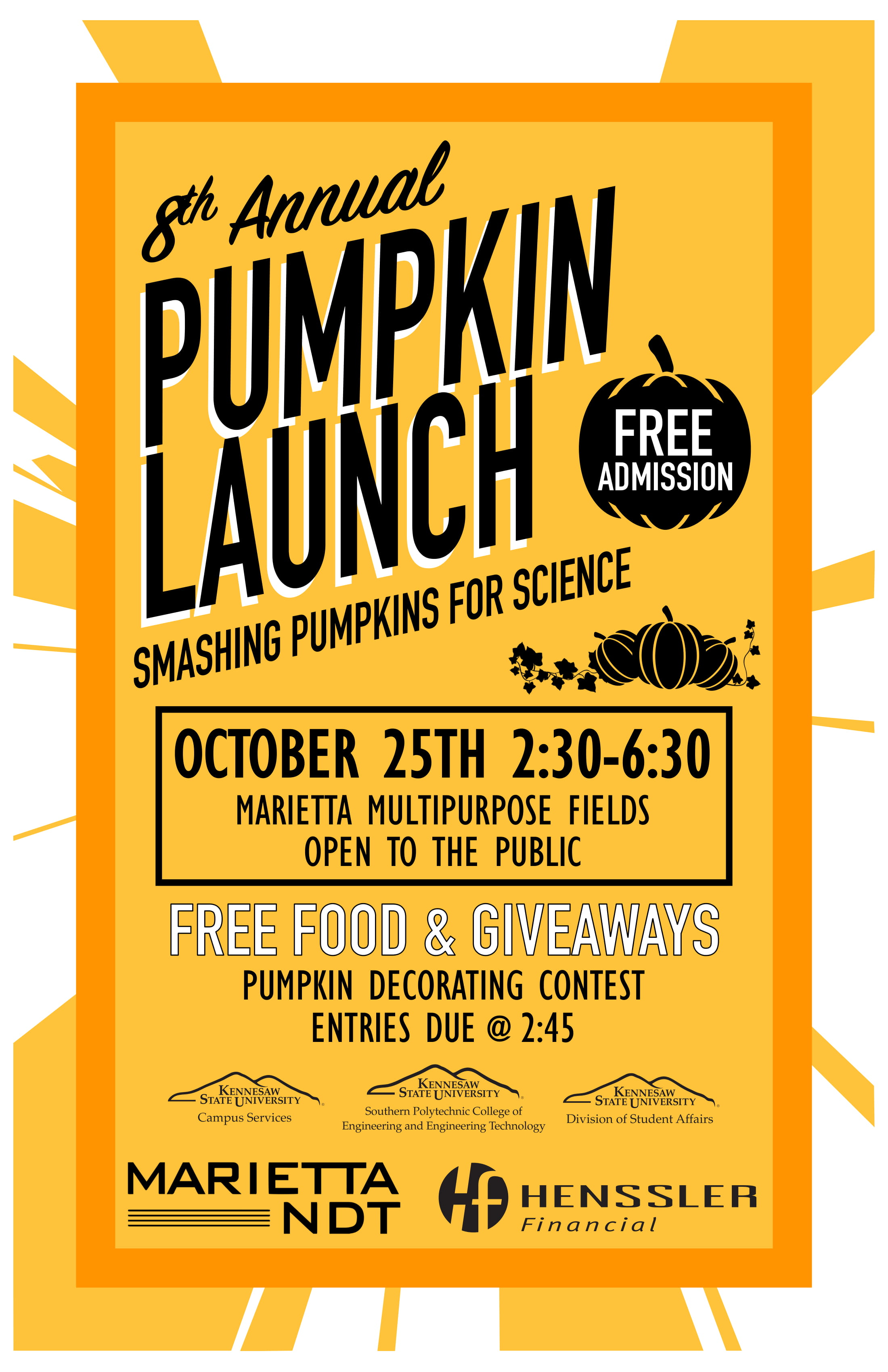 KSU 8th Annual Pumpkin Launch
